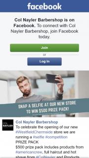 Col Nayler Barbershop Chermside – Win a $500 Pack (prize valued at $500)