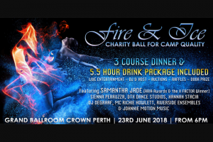 Community News – Win 1 of 2 Double VIP Platinum Tickets to The Fire & Ice Charity Ball for Camp Quality Inclusive of Premium Seating