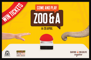 Community News – Win 1 of 85 Family Passes to Perth Zoo this April School Holiday