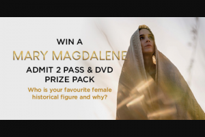 Dendy – Win a Mary Magdalene Prize Pack