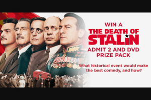 Dendy – Win a The Death of Stalin Prize Pack