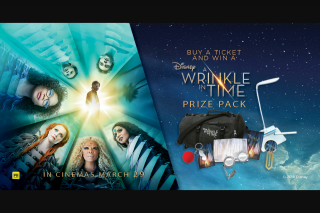 Dendy – Win an a Wrinkle In Time Prize Pack