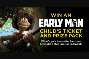 Dendy – Win an Early Man Children's Ticket and Prize Pack