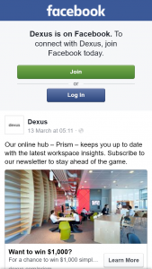 Dexus – Win $1000 Simply Tell Us In 25 Words Or Less What Could Make Your Workspace Great (prize valued at $1,000)