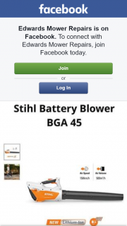Edwards Mower Repairs – Win a Brand New Stihl Battery Powered Blower Bga 45. (prize valued at $179)