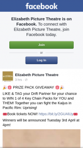 Elizabeth Picture Theatre – Win 1 of 4 Key Chain Packs for You and Them