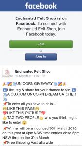 Enchanted Felt Shop – Win a Custom Unicorn Dreamcatcher