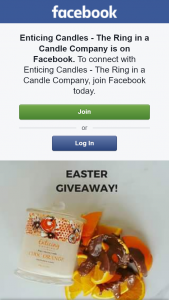 Enticing Candles – Win this Ring Candle