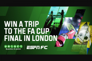 ESPN – Win Tickets for You and a Mate to The Fa Cup Final (prize valued at $8,500)