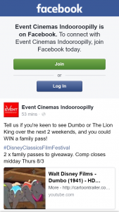 Event Cinemas Indooroopilly – Win a Family Pass
