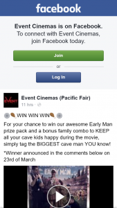 Event Cinemas Pacific Fair – Win Our Awesome Early Man Prize Pack and a Bonus Family Combo to Keep All Your Cave Kids Happy During The Movie
