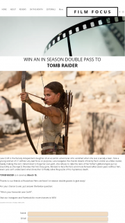 Film Focus – Win an In Season Double Pass To