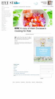 Five Star Kids – Win a Copy of Cooking With Kids