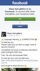 Glass that Glitters – Win this Set
