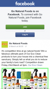 Go Natural Foods – Win a Fabulous Ultimate Pack of Our Eco Clean Products to Turn Your House Into a Chemical Free Sanctuary