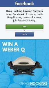 Greg Hocking Lawson Partners – Win a Weber Q