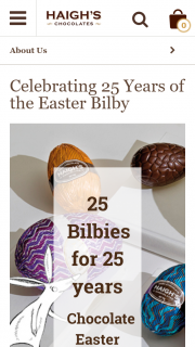 Haighs Chocolate – Win 1 of 25 Chocolate Easter Bilbys (prize valued at $27.25)
