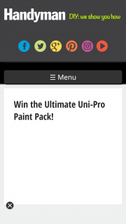 "Handyman – Win One of 10 Uni-Pro ""you Can Do It"" Prize Packs (prize valued at $147.2)"