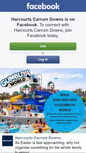 Harcourts Currum Downs – Win a $200 Voucher to Gumbuya World (prize valued at $200)