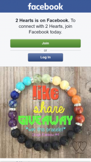 2 Hearts – Win The Pictured Rainbow Bracelet In Your Size ( Shipping Included).