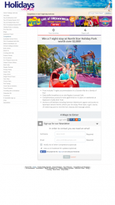 Holidays with Kids – Win a 7 Night Stay at North Star Holiday Park Worth Over $2000 (prize valued at $2,000)