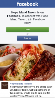 Hope Island Tavern – Win One of Six Lobster Tails
