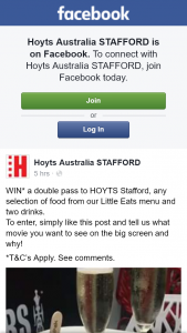 Hoyts Cinemas Stafford – Win a Double Pass & Any Selection of Food From Litle Eats Menu