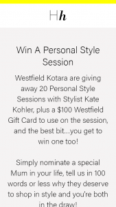 Hunter Hunter – Win a Personal Style Session (prize valued at $500)