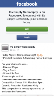 It's Simply Serendipity – Win a Pendant Necklace & Matching Pair of Earrings
