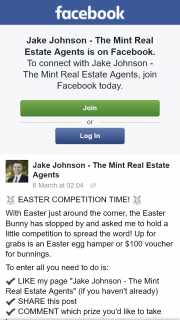 Jake Johnson Mint Real Estate – Win $100 Bunnings Voucher Or Easter Hamper