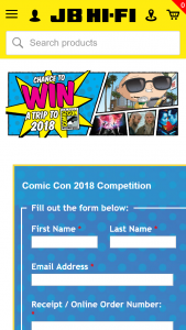 JB Hi-Fi – Century Fox – Win a Trip to San Diego Comic Con 2018 (prize valued at $13,259)