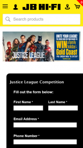 JB Hi-Fi Pre-order Justice League & – Win a Family Holiday to The Gold Coast