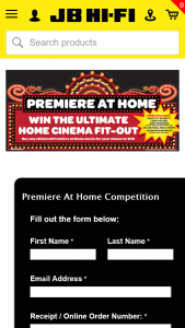 JB Hi-Fi – Win The Ultimate Home Cinema Fit-Out (prize valued at $5,201)