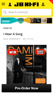 JB HiFi – Win 2 Tickets Plus a Meet & Greet With Dami Im at One of Her Shows (airfare and Accommodation Included