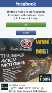 Jindalee Home – Win a Kids Motorbike Must Collect (prize valued at $109)