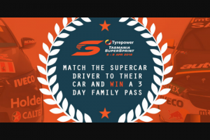 LAFM – Win a Supercars Package By Matching The Supercar Driver to Their Car (prize valued at $2,800)