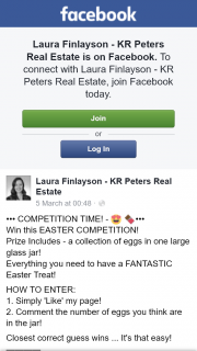Laura Finlayson KR Peters Real Estate – Win this Easter Competition