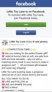 Little Toy Lane – Win a Jellycat Bunny