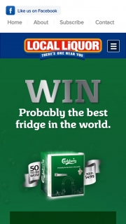 Local Liquor – Win a Carlsberg Fridge Valued at $499.00 Aud (prize valued at $499)