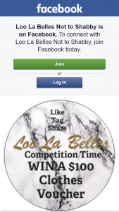 Loo La Belles Not to Shabby – Win $100 Clothes Voucher