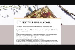 Lux Aestiva – Win Skincare Prizes