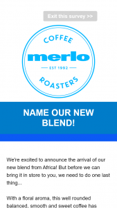 Merlo Coffee Name our new blend & – Win We're Excited to Announce The Arrival of Our New Blend From Africa (prize valued at $500)