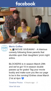 Merlo Coffee – Win One of Ten Blockers Double Passes