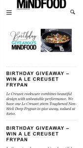 MindFood – Win a Le Creuset Frypan (prize valued at $260)