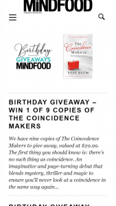 MindFood – Win 1 of 9 Copies of The Coincidence Makers (prize valued at $29.99)