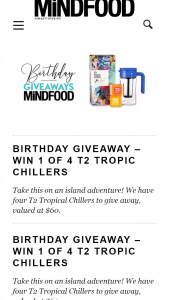MindFood – Win 1 of 4 T2 Tropic Chillers (prize valued at $60)