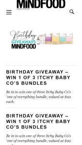 MindFood – Win One of Three Itchy Baby Co's 'one of Everything Bundle (prize valued at $99)