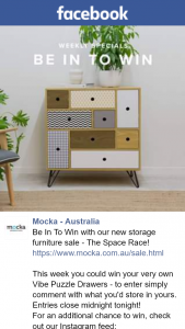 Mocka Australia – Win Your Very Own Vibe Puzzle Drawers