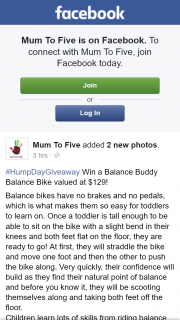 Mum to Five – Win a Balance Buddy Balance Bike Valued at $129