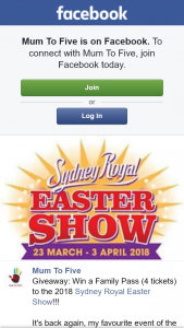 Mum to Five – Win a Family Pass (4 Tickets) to The 2018 Sydney Royal Easter Show